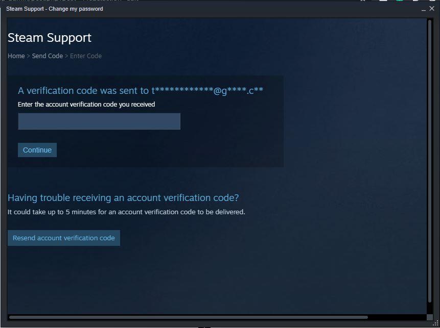steam forgot password