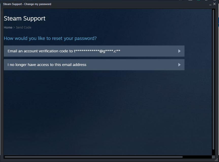 steam password change